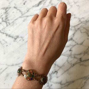 🔥 Vintage Cloisonné Natural Stone Bracelet